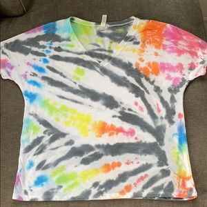 Hand tie-dyed T-shirt!